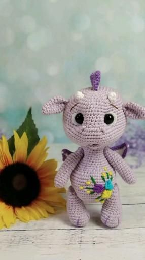 Crochet Dragon PATTERN. Little Dragon baby Amiguru