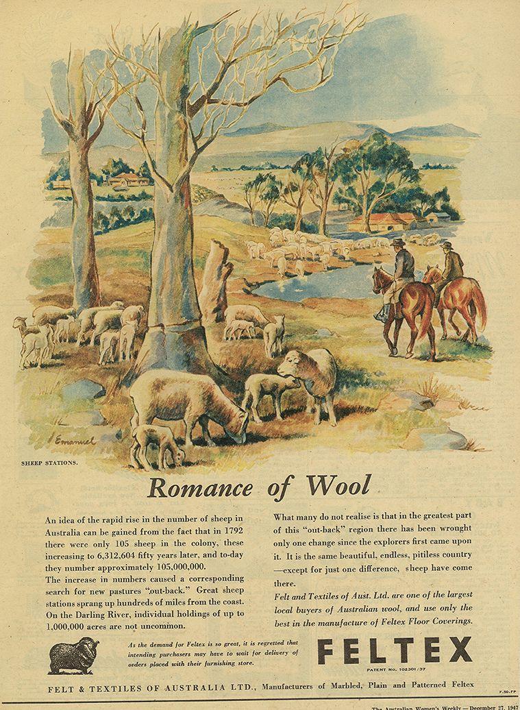 Vintage Feltex Carpets Romance Of Wool Advertisement Aww December 1947 Australian Wool Carpet Commercial Carpet Carpet Vintage