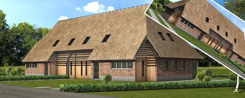 Boerderijwoning google zoeken outdoor design indoor pinterest archi design thatched - Deco moderne woning ...