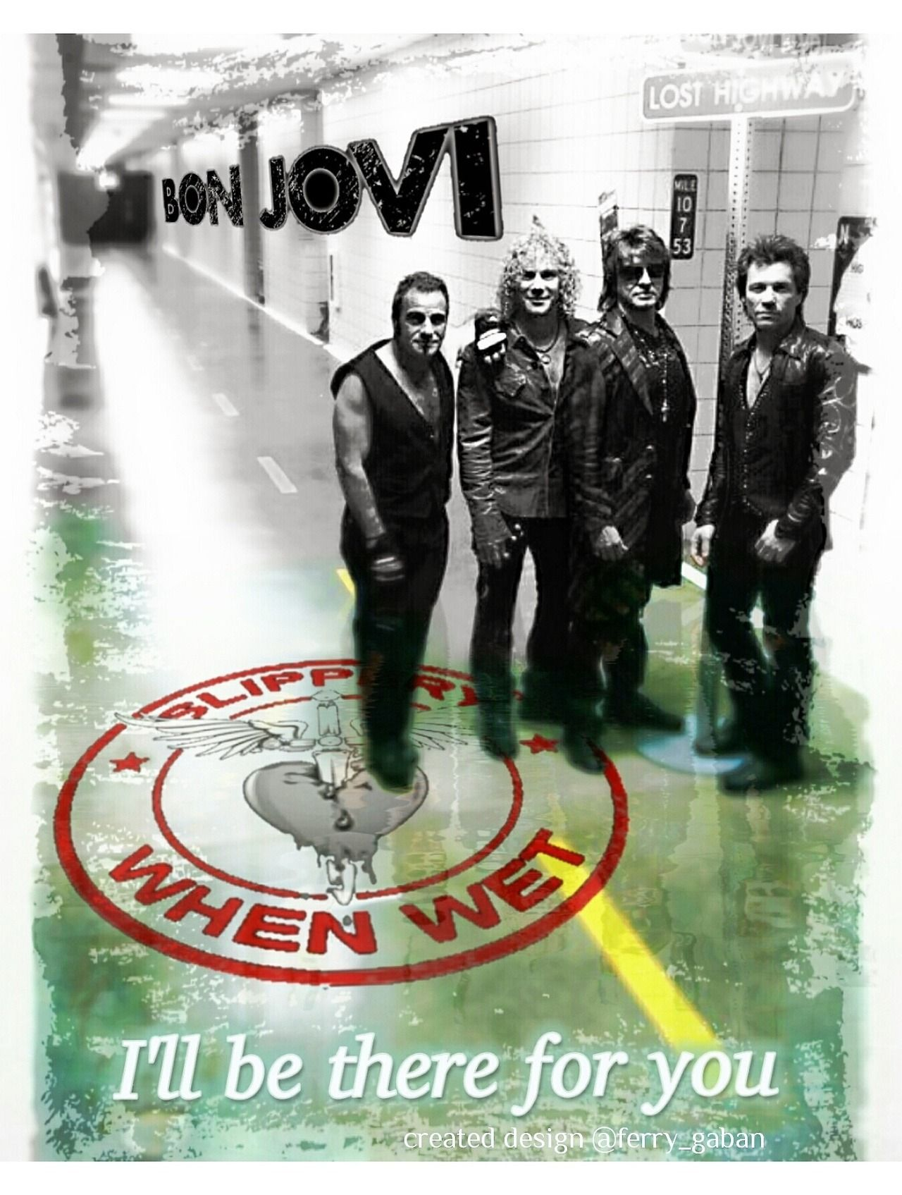 Greenlinedesign I Ll Be There For You From The New Jersey Album Bonjovi 1988 Bonjovi Newjersey Album Illbe Arena Rock Cover Songs Glam Metal