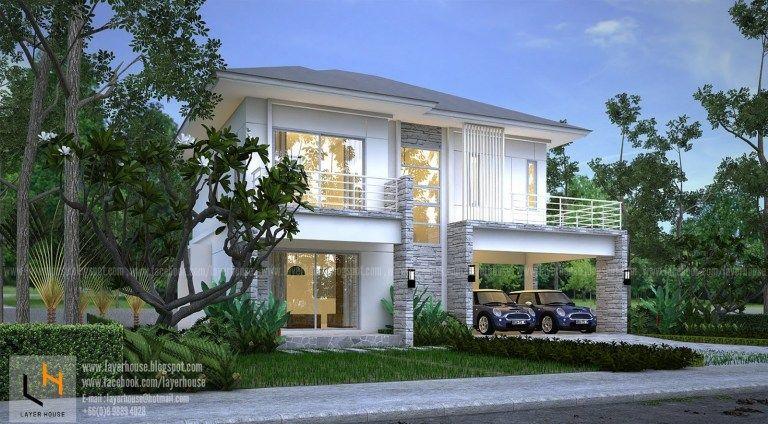House Plans Idea 11x9m With 3 Bedrooms Sam House Plans House Plans Modern House Plans Two Storey House Plans