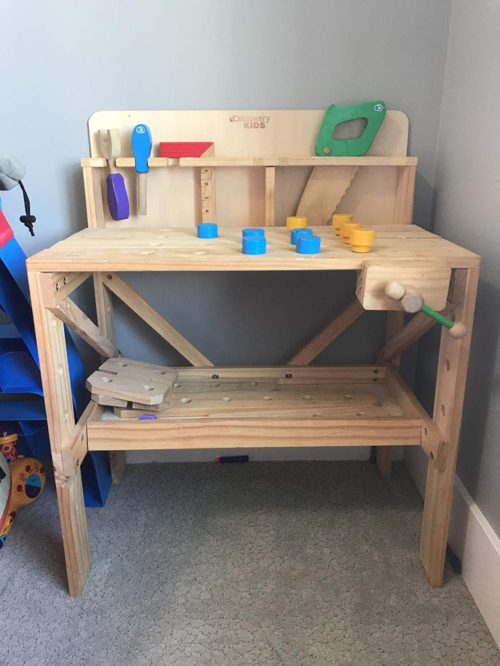 Discover Kids Wooden Tool Bench Tool Bench Wooden Kids Playing