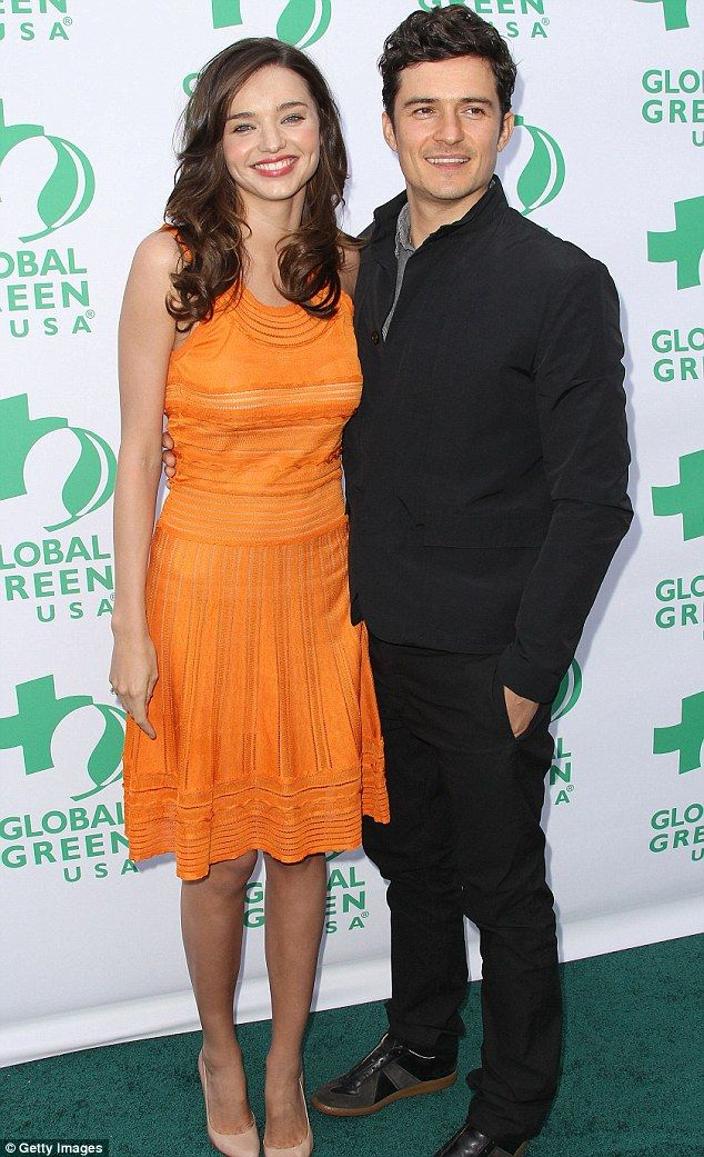 Doting husband: Miranda is now being looked after at home by her British actor husband Orlando Bloom