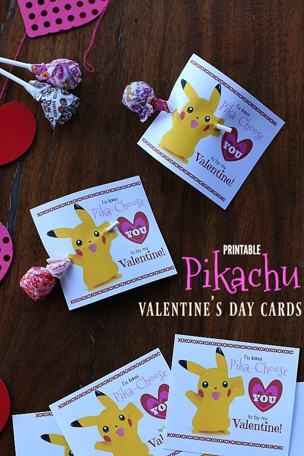 These Fun Printable Pikachu Valentine S Day Cards Are Sure To Thrill Kids Of All Ages