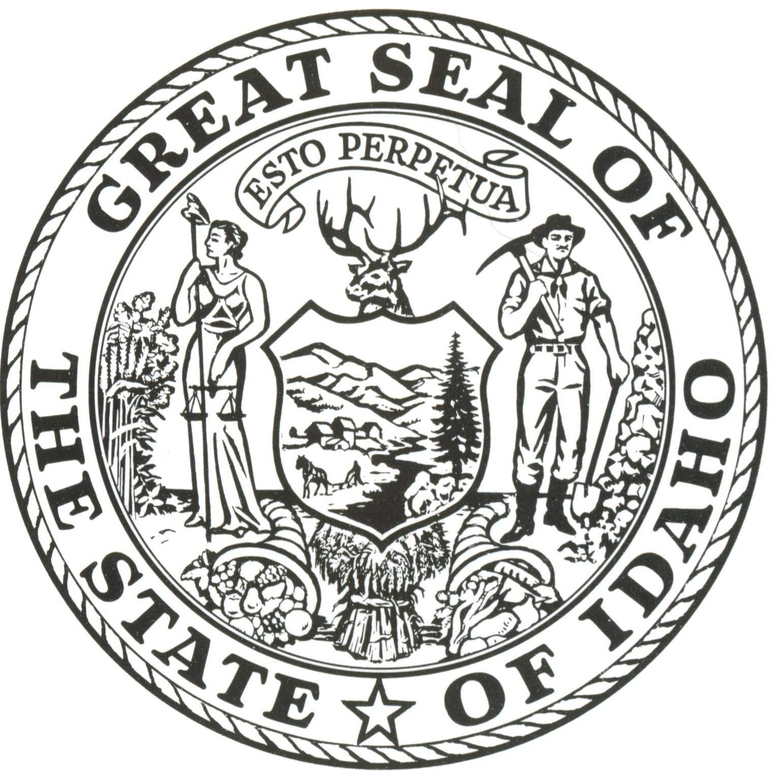 Idaho State Seal Images Flag Coloring Pages Idaho State Coloring Pages