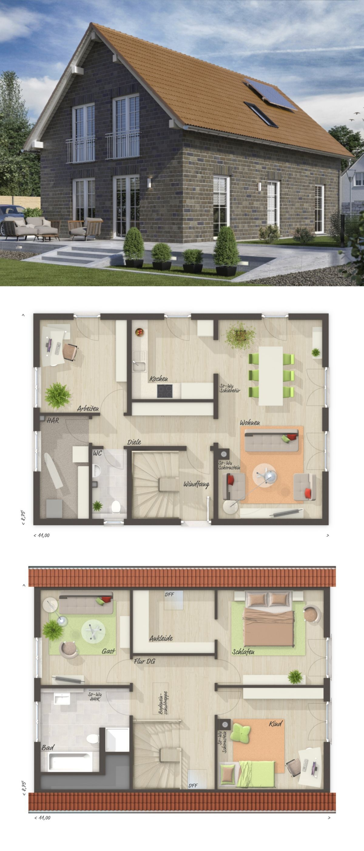 Modern Country Style Architecture Design House Plan Bodensee 9