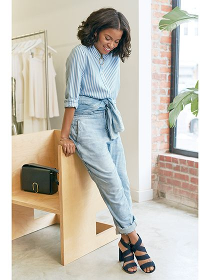 78c7499ebf0 What do you get when you cross the ease of a jumpsuit with the coolness of  denim  Kai Avent-deLeon shows us four ways to make the throwback staple  look ...