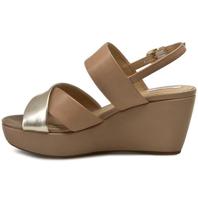 Online Bestellen Günstig Kaufen Shop Sandalen GEOX - D Thelma C D62N9C 043BN CH62L Lt Taupe/Lt Gold pAw95Ic