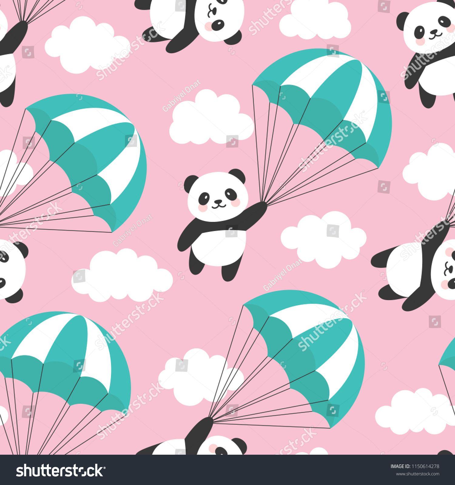 b3f9ef9ec82 Seamless Panda Pattern Background