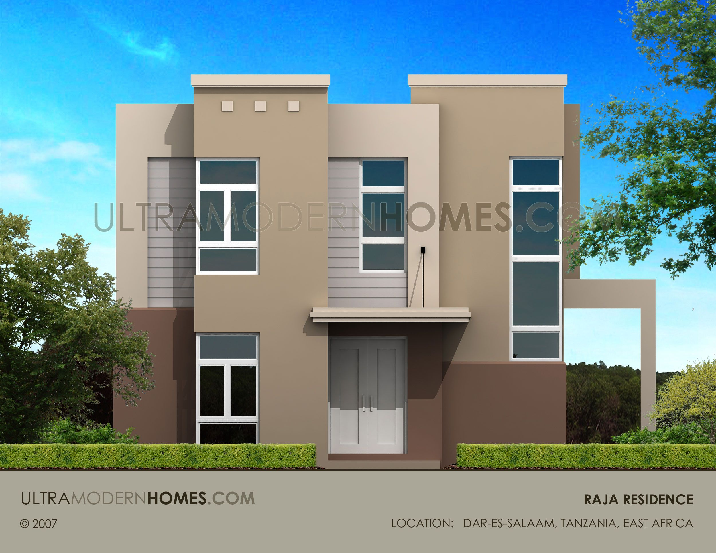 Contemporary home plan in dar es salaam tanzania africa designed by residential architect cynthia leif visit her website at ultramodernhomes com