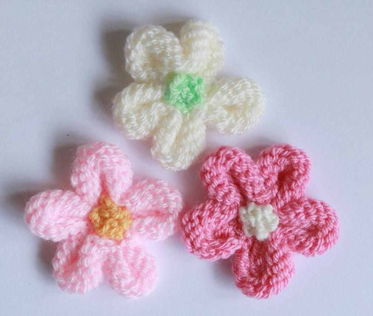 Knitted flower crafty embellishments pinterest knit knitted flower tutorial knitting pattern by julie taylor bankloansurffo Images