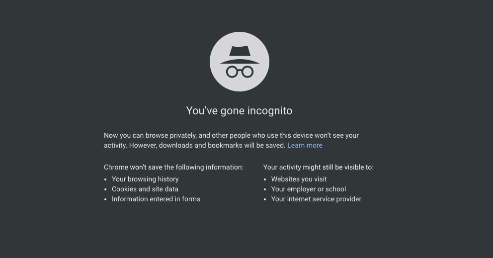 What Is Incognito Mode V 2020 G