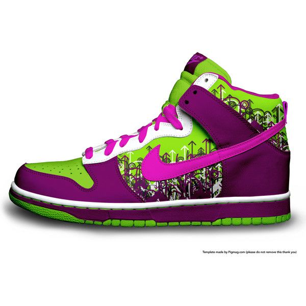 timeless design 8941d 93f11 tenis-nike-colorido-cano-alto ❤ liked on Polyvore