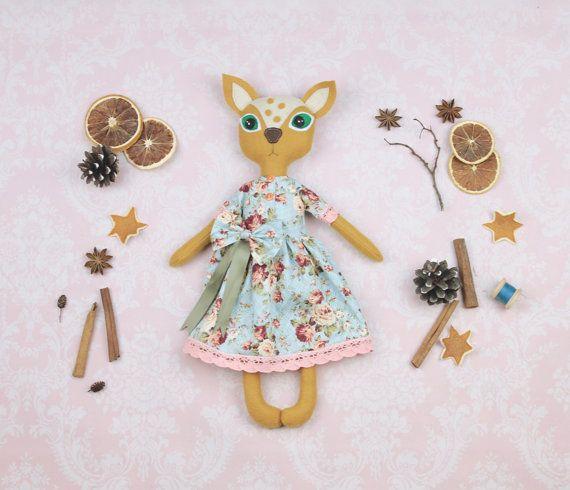 Fauve poupée poupée d'art ooak prêt à par MiracleInspiration