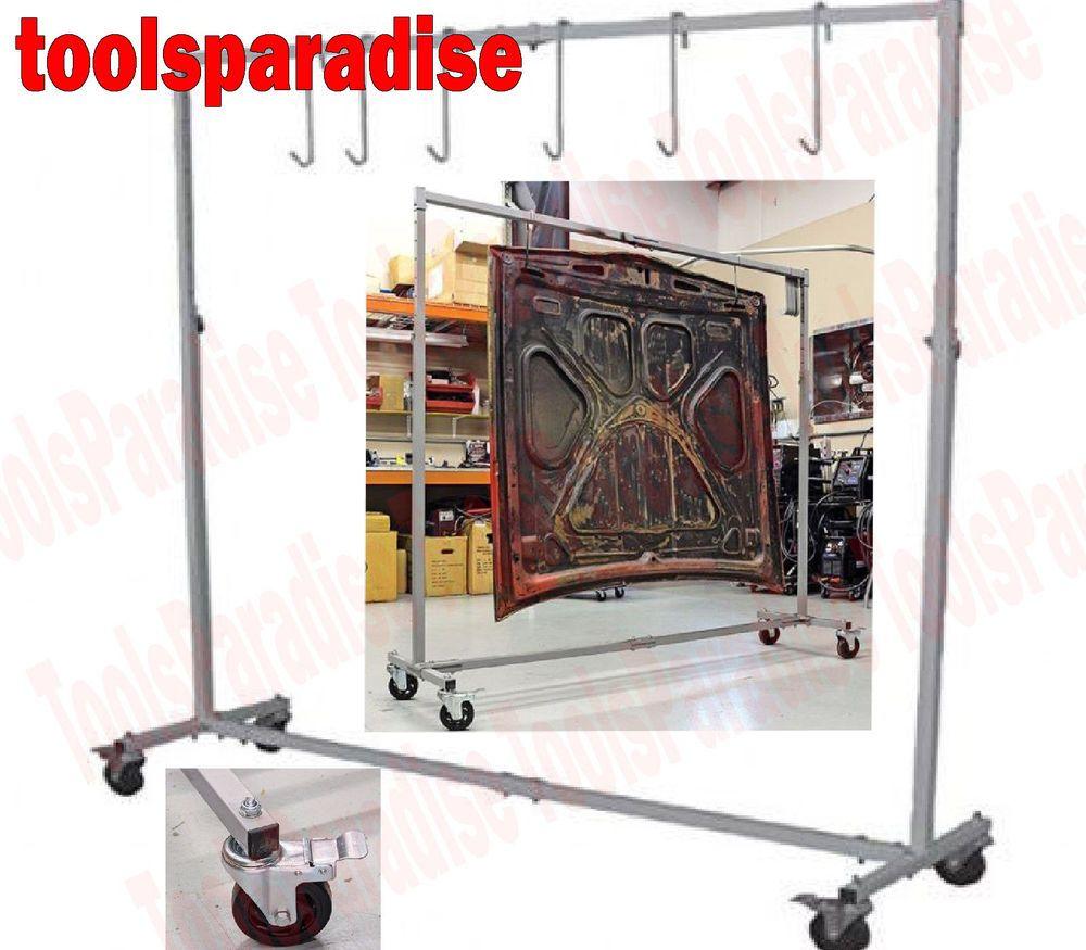Auto Body Shop Painting Rack Hook Hanger Stand Panel Hood Door Holder Frame Appainthookhangerframe Hanger Stand Paint Shops Door Holders