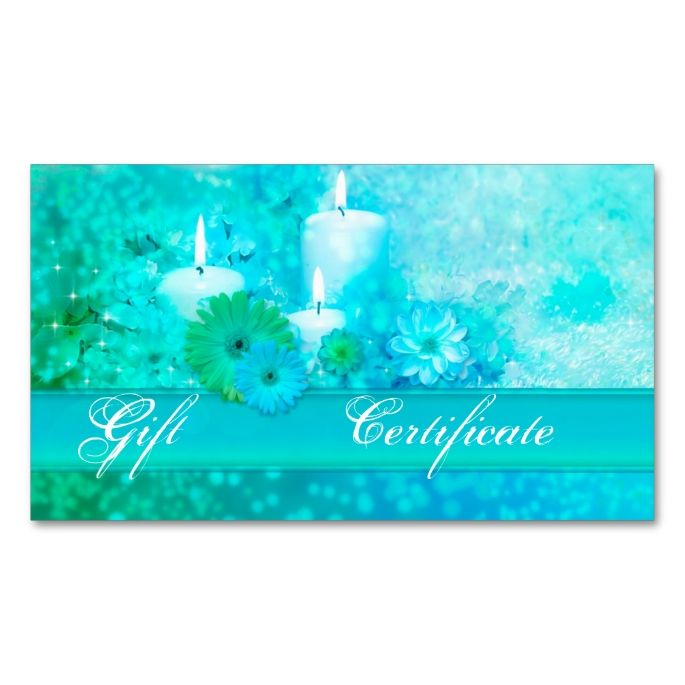 Elegant Turquoise Wellness Gift Voucher Template Double-Sided - make your own gift voucher template
