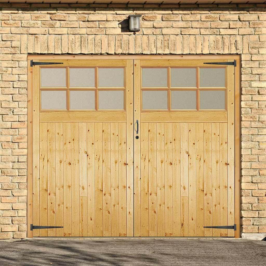 Jeldwen Redwood Garage Glazed Pair Doors Obscure Glass Unfinished Garage Doors Garage Door Design Garage Door Styles