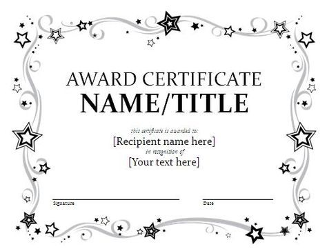 A good looking Certificate Brochure Template to create certificates ...
