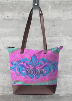 VIDA Statement Bag - Kay Duncan Yoga Aqua Bag by VIDA fETUmXY