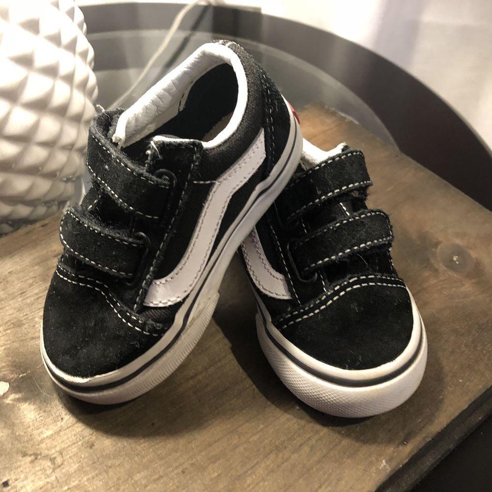 Vans Old Skool V VN000D3YBLK Black Suede Baby Toddler Shoes