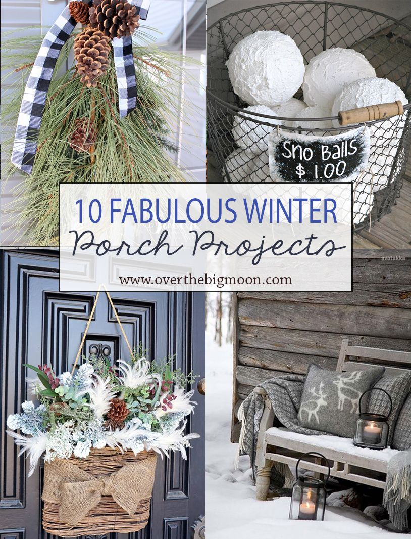 10 Wonderful Winter Front Porch Projects Rustic Winter Decor Winter Porch Decor Winter Porch Decorations