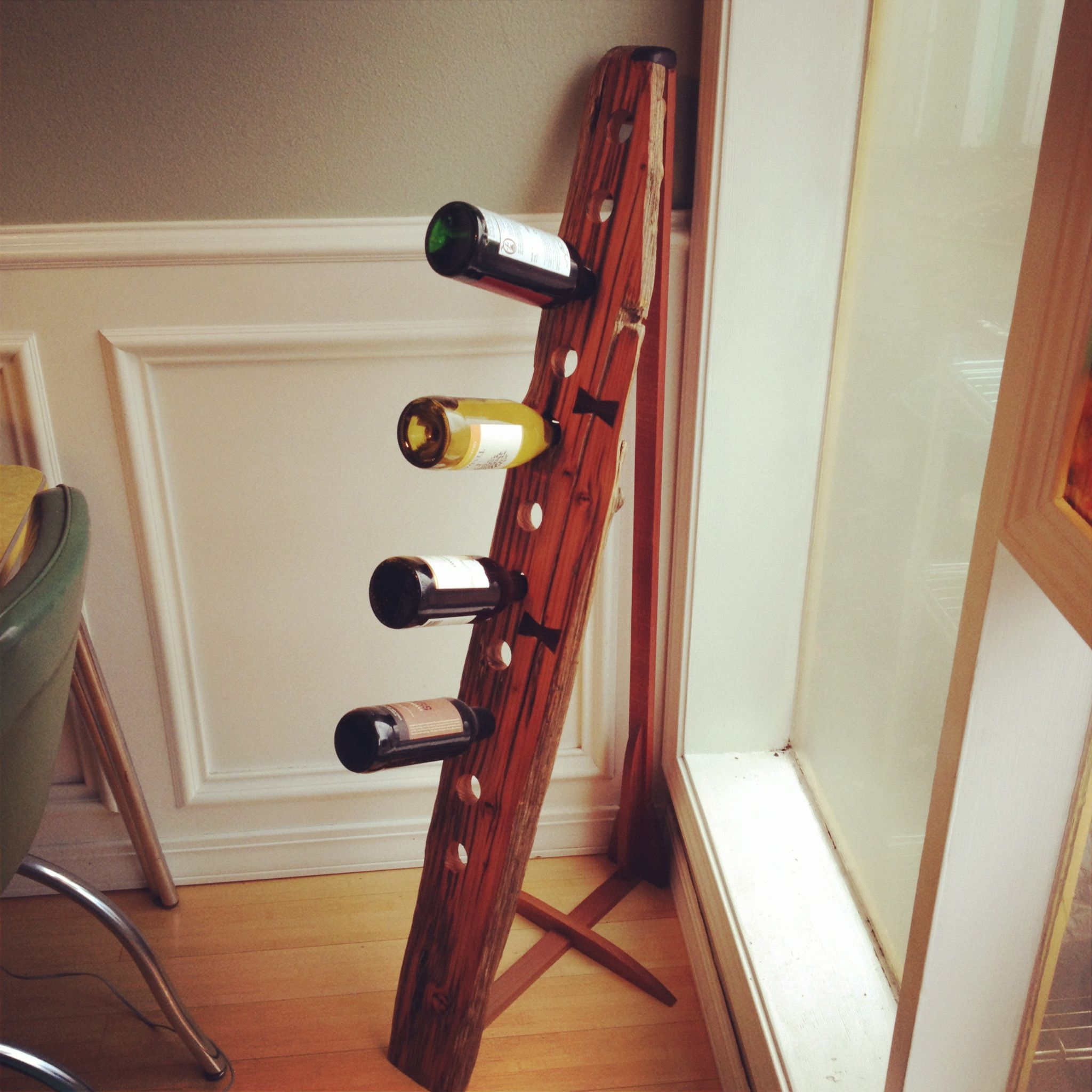 Gorgeous Wine Rack Made From A Piece Of Driftwood Taken From The River Courtesy Of My Amazing Brother Riddling Rack Wine Rack Home