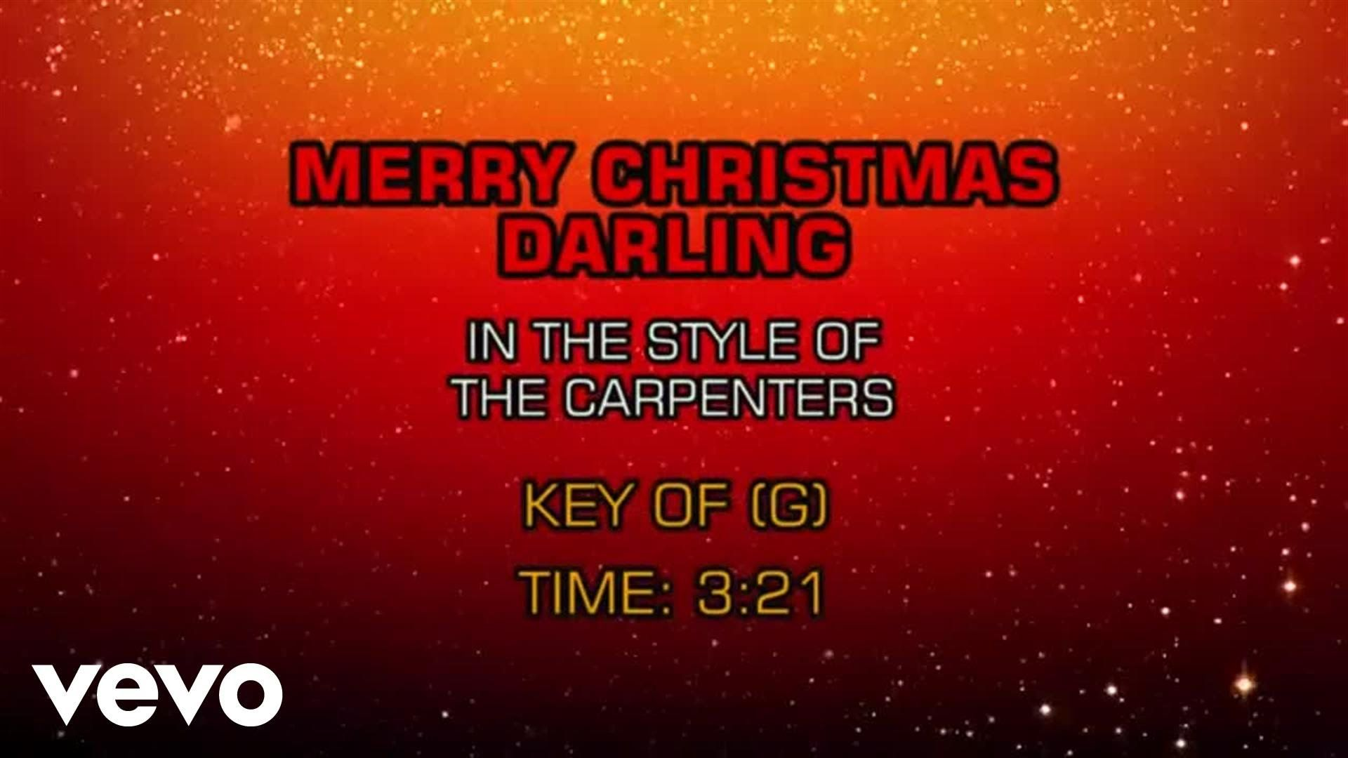 Carpenters - Merry Christmas Darling (Karaoke)   Christmas Music ...