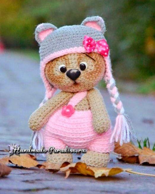 Медвежонок в шапочке. Амигуруми крючком (7) | maskotki | Pinterest ...