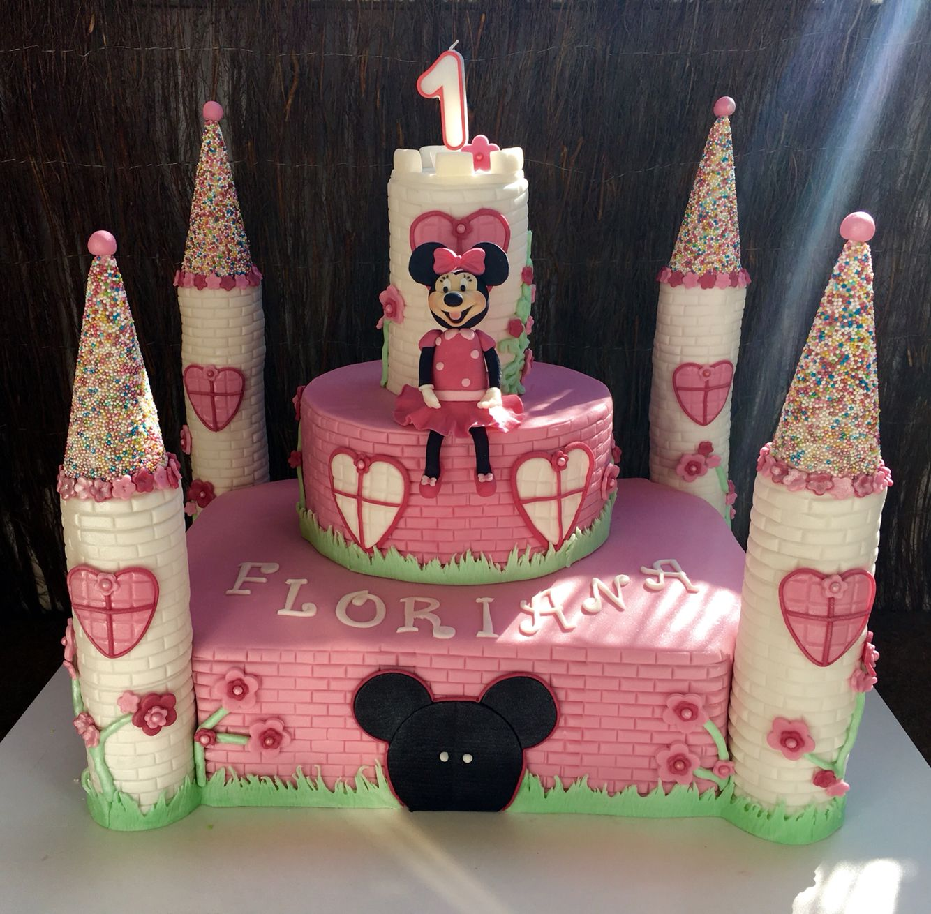 Schloss Torte Minnie Mouse Cumple Irianys Torten