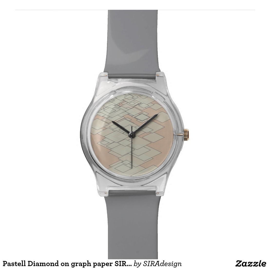 Pastell Diamond on graph paper SIRAdesign Handuhr