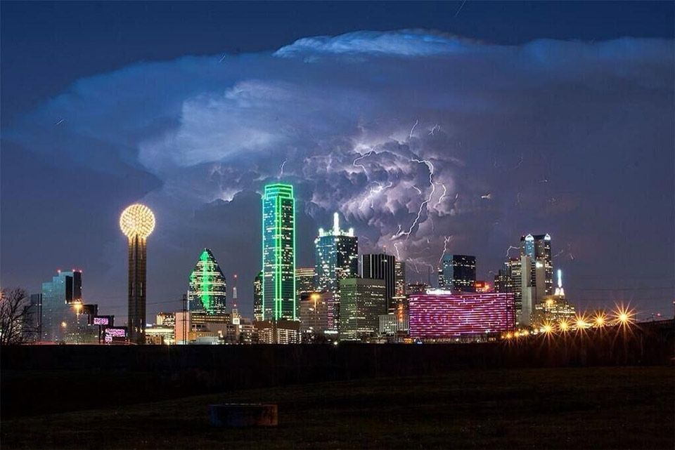 storm over dallas by david worthington