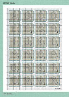 scrabble tile cross stitch pattern - Google Search