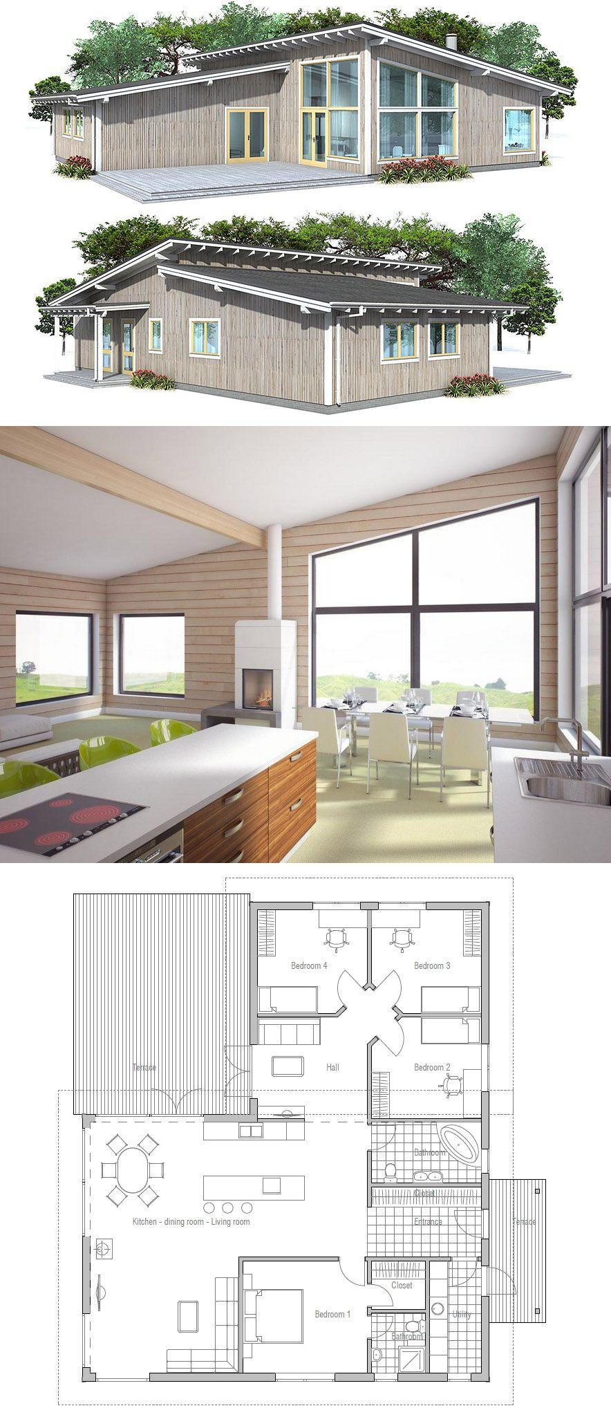 Plan De Maison Maison Projet De Maison Architecture Plandemaison Maison Architecture Projetdemai House Plans Building A Container Home Small House Plans