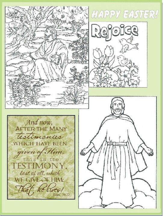 LDS Easter Coloring Page  Primary Newsletter Ideas  Pinterest