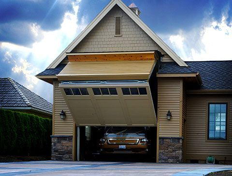 Elegant One Of A Kind RV Garage: 8 Foot Tall Door That Your RV Can Fit Through
