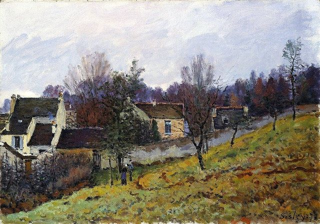 Autumn in Louveciennes - Alfred Sisley, 1873