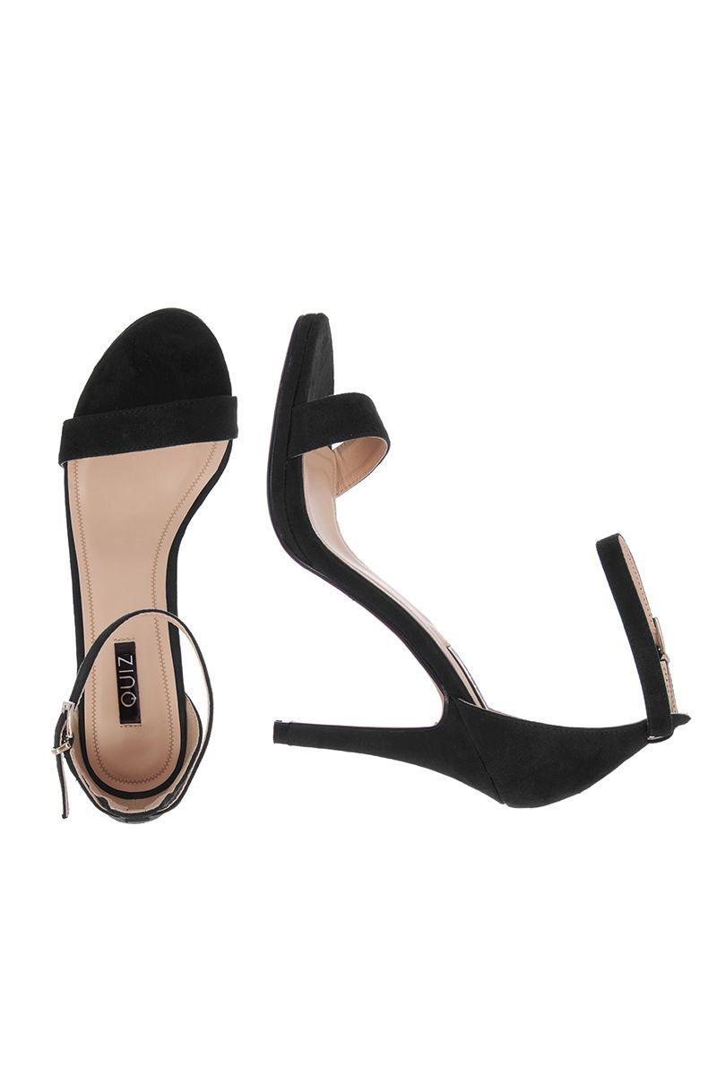d1870d42eb0 Sandalias Negras de Tiras y Tacón Alto - Quiz Clothing