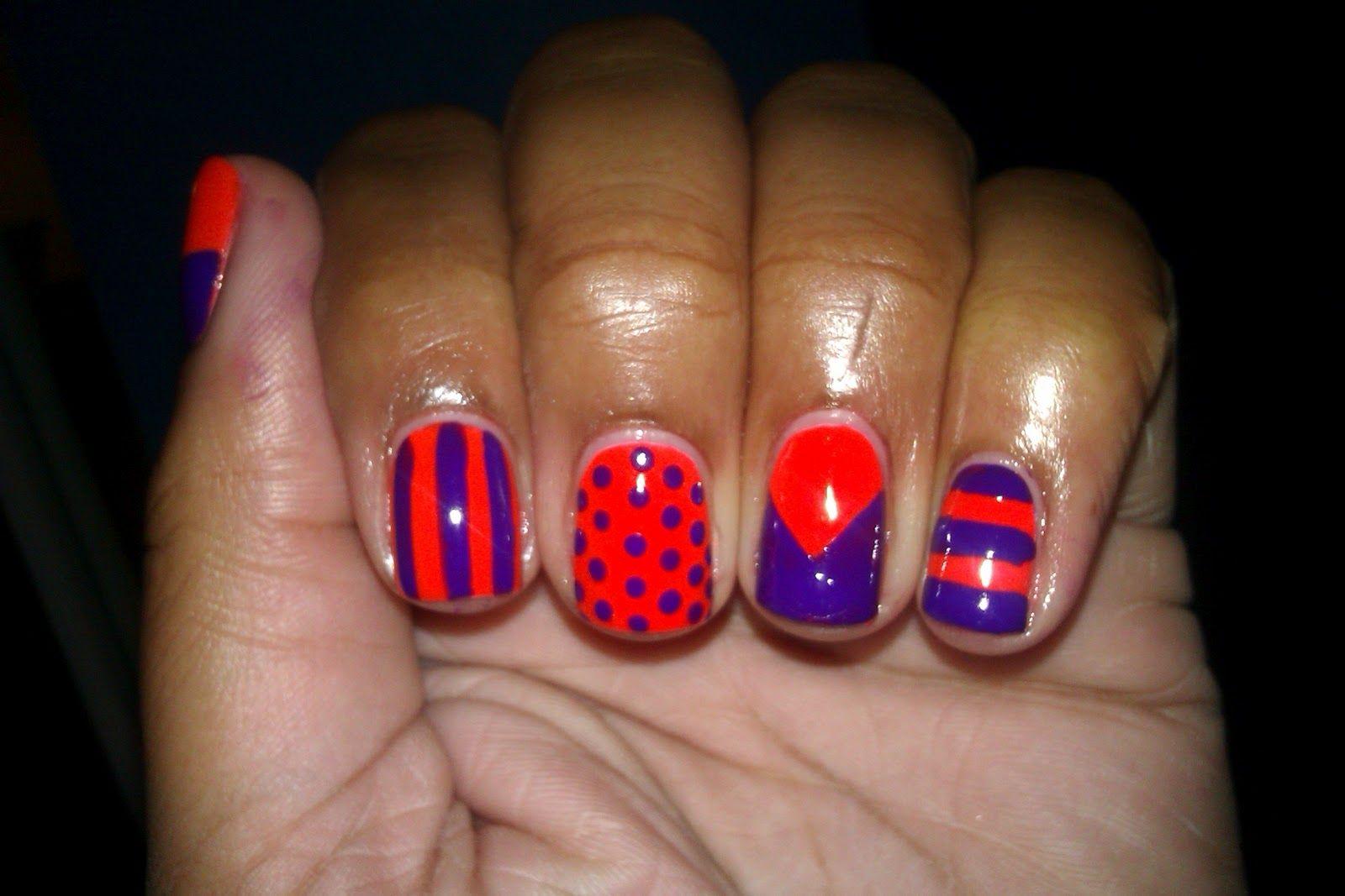 orange and purple | nail galore | pinterest | orange nail designs