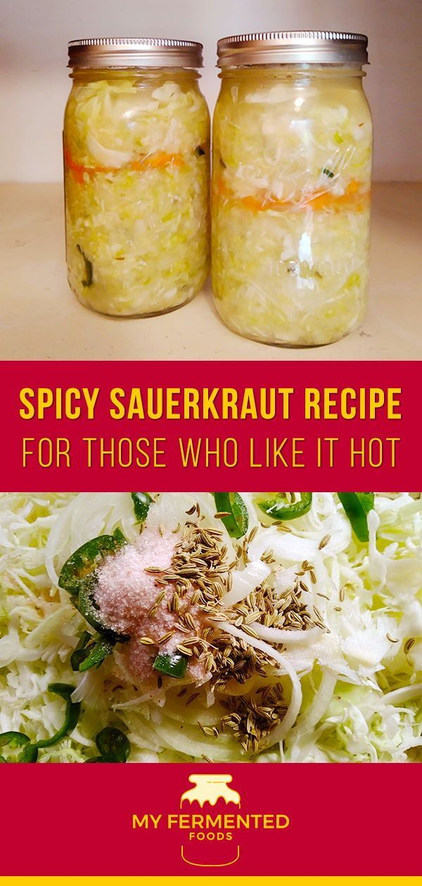 Spicy Sauerkraut Recipe  for Those Who Like It HOT Heres how I made delicious homemade hot spicy sauerkraut This probiotic goodness is full of vitamins and it will keep y...