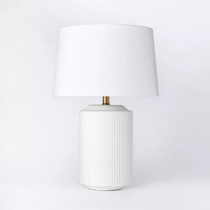 Ceramic Assembled Table Lamp White Threshold Designed With Studio Mcgee White Table Lamp Table Lamp Lamp