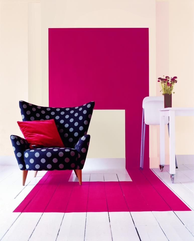 Why not make a feature of your favourite chair by painting a big ...