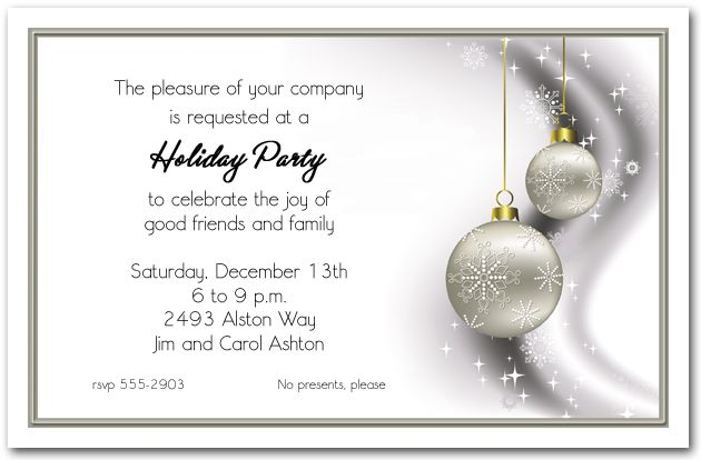 Company Holiday Party Invitation Wording | Rscf Holiday Party