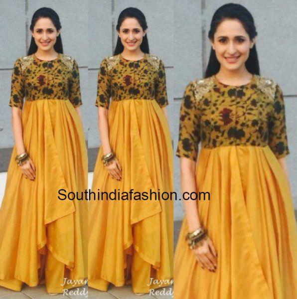 6d24a46486 Ritu Varma in Mrunalini Rao | Long frocks | Anarkali gown, Indian ...