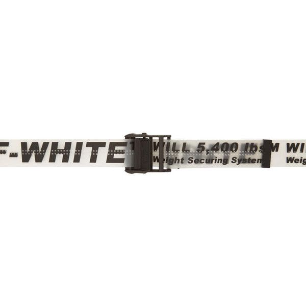 cbd1c48f28b4 Off-White Black and Transparent Rubber Industrial Belt ( 365) ❤ liked on  Polyvore featuring accessories