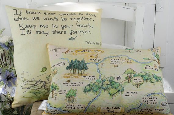 Winnie The Pooh Nursery Pillow Set Hundred Acre Wood