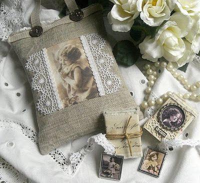 Shabby Chic Inspired: lavender sachets