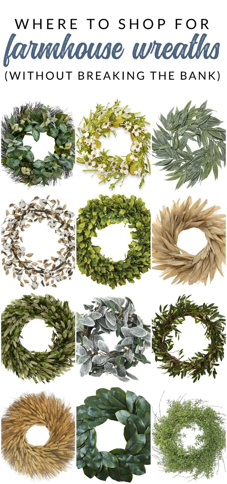 Where To Find Affordable Farmhouse Wreaths 16 Wreaths Under 60 Farmhouse Wreath Diy Farmhouse Wreath Decor Wreath Decor