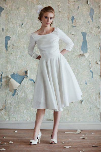 Moderne Midi Brautkleider – Ein Hauch 50s Glamour für Ihre Hochzeit ...