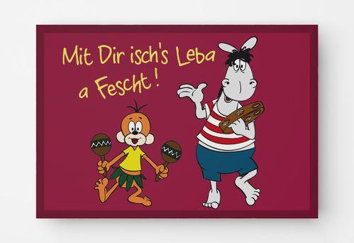 Postkarte Mit Dir Schwabische Spruche Mainzelmannchen Witzige Bilder Spruche