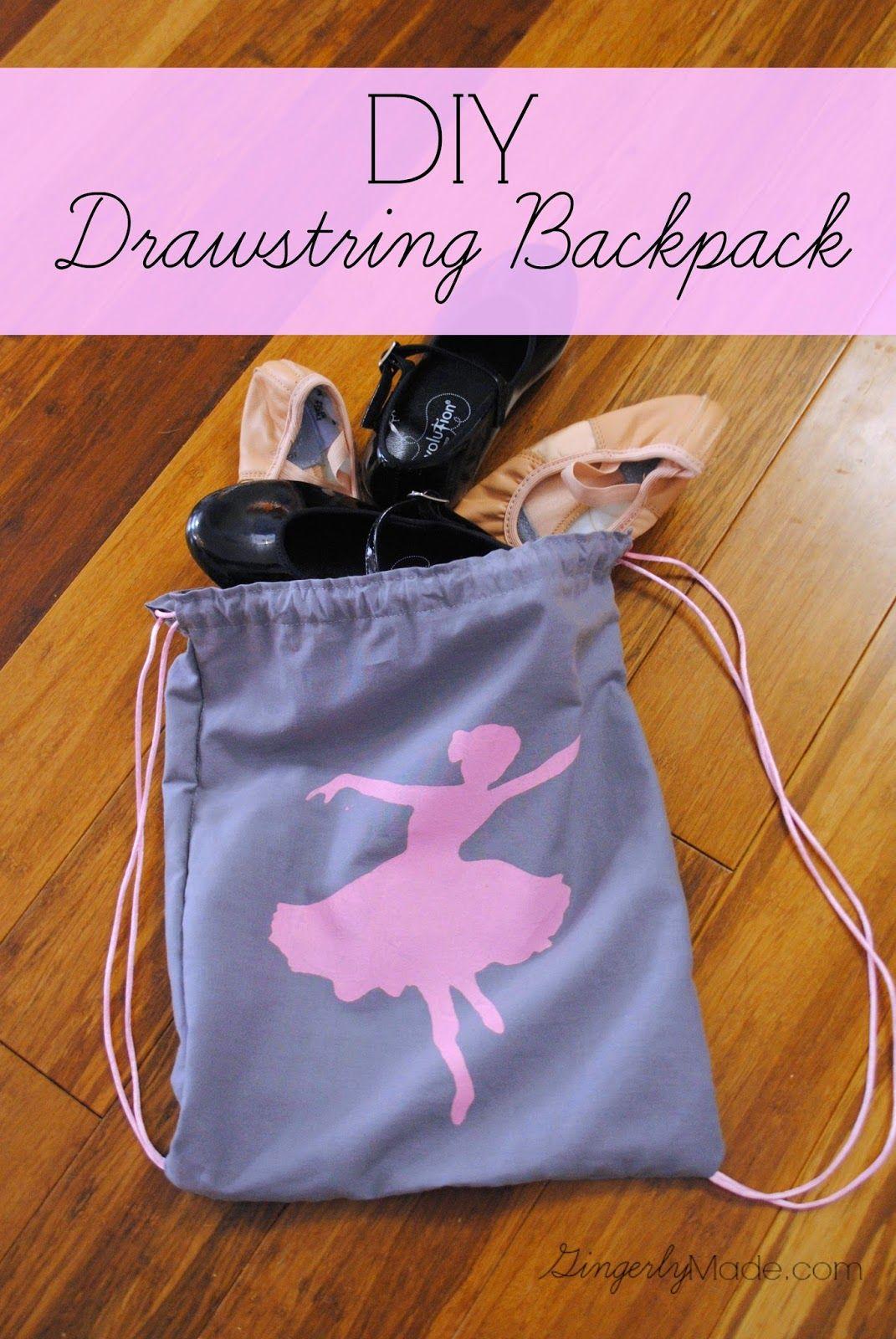 DIY Drawstring Backpack | Sewing and Creating | Pinterest | Shirts ...